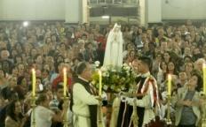 Dom Gil celebra aniversários na Catedral com a Imagem peregrina de N. Sra. de Fátima