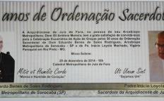 Dom Eduardo Benes e Padre Inácio celebram 50 anos de ordenação sacerdotal