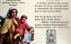 Ordem Terceira do Carmo celebra 75 anos