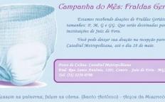 Anjos da Misericórdia organizam campanha para arrecadar fraldas geriátricas