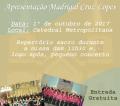 Madrigal Cruz Lopes realiza, pela primeira vez, concerto em Juiz de Fora