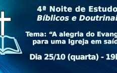 4ª Noite de Estudos Bíblicos e Doutrinais acontece na Catedral