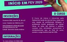 Curso de Libras recebe inscrições a partir de 4 de fevereiro