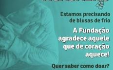 Campanha do Agasalho é promovida por Fundação Maria Mãe