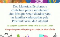 Grupo Anjos da Misericórdia recolhe materiais escolares para doação